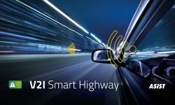 Asist's V2I Smart Highway project, vehicle to infrastructure, V2I, V2I, connected vehicles, smart city